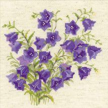 Kit point de croix - Riolis - Les fleurs violettes