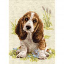 Kit point de croix - Riolis - Le petit chien