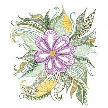 Kit au point de broderie  - Riolis - Charmante fleur