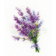 Kit point de croix - Riolis - Bouquet de lavande