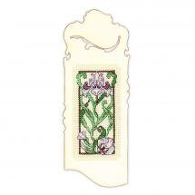 Kit de marque-pages à broder - Riolis - Floraison d'iris