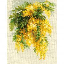 Kit point de croix - Riolis - Mimosa