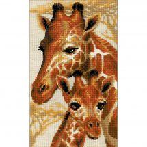 Kit point de croix - Riolis - Les girafes