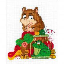 Kit point de croix - Riolis - Le hamster et le crapaud