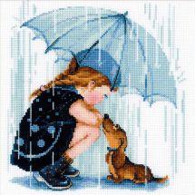 Kit point de croix - Riolis - Sous mon parapluie
