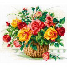 Kit point de croix - Riolis - Le panier de roses