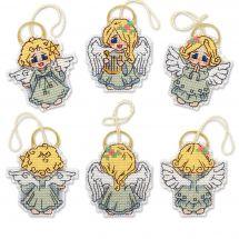 Kit d'ornement à broder - Riolis - Décoration petits anges