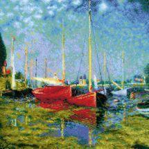 Kit point de croix - Riolis - Argenteuil d'après C. Monet