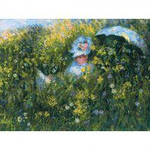Kit point de croix - Riolis - Dans le pré d'après Monet