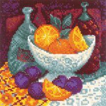 Kit point de croix - Riolis - Oranges