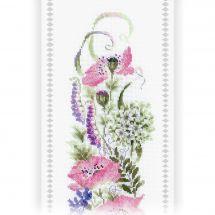 Kit de bannière à broder - Riolis - Assortiment de fleurs