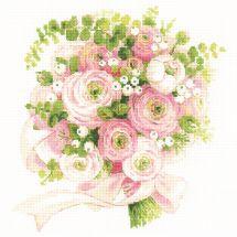 Kit point de croix - Riolis - Bouquet de mariage