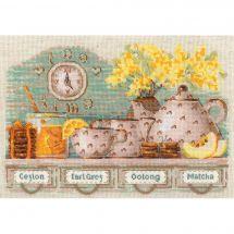 Kit point de croix - Riolis - L'heure du thé