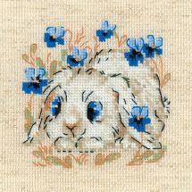 Kit point de croix - Riolis - Petit lapin