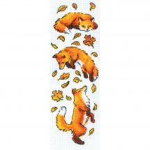 Kit point de croix - Riolis - Renards parmi les feuilles