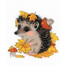 Kit point de croix - Riolis - Le cueilleur de feuilles