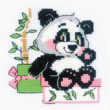 Kit point de croix - Riolis - Cadeau de panda