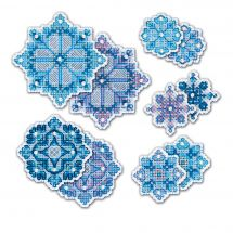 Kit d'ornement à broder - Riolis - Flocons de neige