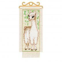 Kit de bannière à broder - Riolis - Alpaga