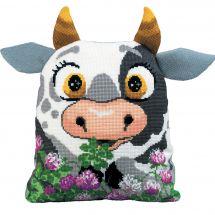 Kit de coussin à broder - Riolis - Vache