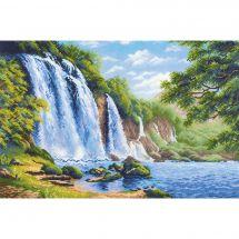 Kit point de croix - Riolis - Bruit de la cascade
