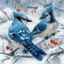 Kit point de croix - Riolis - Geais bleus