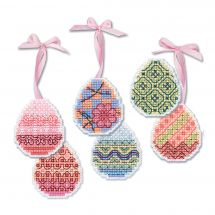Kit d'ornement à broder - Riolis - Oeufs de Pâques