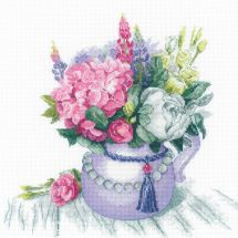Kit point de croix - Riolis - Charme floral
