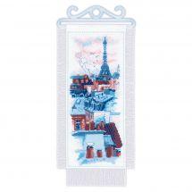 Kit de bannière à broder - Riolis - Toits de Paris