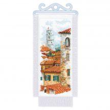 Kit de bannière à broder - Riolis - Toits de Pise