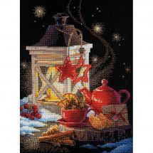 Kit point de croix - Riolis - L'heure du thé d'hiver