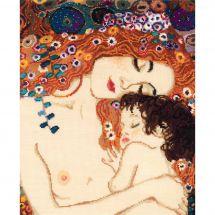 Kit point de croix - Riolis - Amour Maternel d'après Klimt