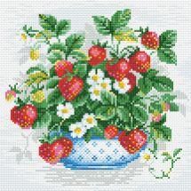 Kit de broderie Diamant - Riolis - Panier de fraises