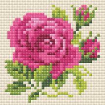 Kit de broderie Diamant - Riolis - Rose rose