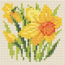 Kit de broderie Diamant - Riolis - Narcisse jaune