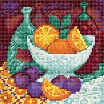 Kit de broderie Diamant - Riolis - Oranges