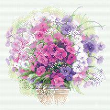 Kit de broderie Diamant - Riolis - Bouquet aquarelle