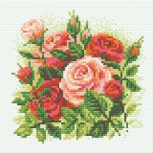 Kit de broderie Diamant - Riolis - Roses