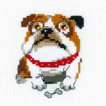 Kit point de croix - Riolis - Bulldog anglais