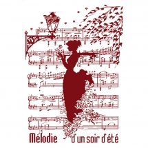 Fiche Point de Croix - Isabelle Haccourt Vautier - Mélodie d'un soir d'été