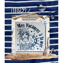 Fiche Point de Croix - Isabelle Haccourt Vautier - Mes vacances à la mer