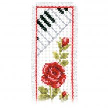 Kit de marque-pages à broder - Vervaco - Clavier piano