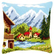 Kit de coussin gros trous - Vervaco - Village de montagne I