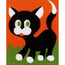 Kit de canevas pour enfant - Vervaco - Le chaton