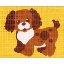 Kit de canevas pour enfant - Vervaco - Le petit chien