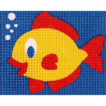 Kit de canevas pour enfant - Vervaco - Le poisson