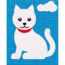 Kit de canevas pour enfant - Vervaco - Chat blanc