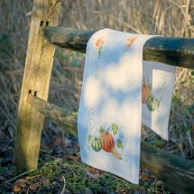 Kit de chemin de table à broder - Vervaco - Citrouilles