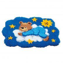 Kit de tapis point noué - Vervaco - Ourson bleu
