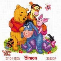 Kit point de croix - Vervaco - Winnie et ses amis